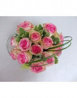 Gift Tenderness set of pink roses | Flowers for Holiday