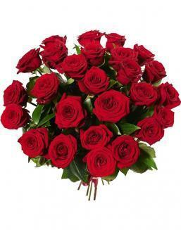 Bouquet of 25 red Dutch roses | Flowers for Holiday