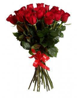 Bouquet of 15 red Dutch roses | Flowers for Holiday