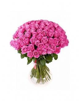 Bouquet of 77 pink roses | Flowers for Holiday