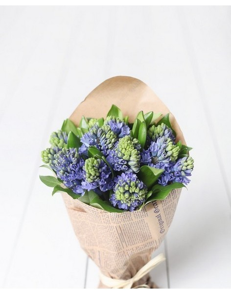 Bouquet of 25 hyacinths
